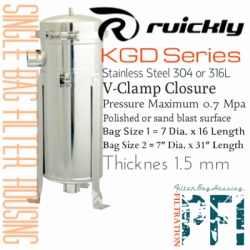 d d Ruickly KGD Series Single Housing Filter Bag Indonesia  large